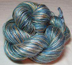 Handspun Bamboo Yarn  Single Ply Sea Foam by SheepingBeauty, $30.00