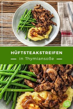 Steakstreifen in Thymiansauce Rezept Hallo Frisch, Heart Healthy Snacks, Healthy Recipes, Jerk Recipe, Toxic Foods, Acidic Foods, Apple Chips, Chinese Cabbage, Shredded Carrot, How To Double A Recipe
