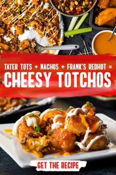What about nachos? Let Frank's RedHot introduce you to your new favorite cheesy app: TOTCHOS. Ready in 30 minutes, this recipe is finger food made easy. Mexican Food Recipes, Crockpot Recipes, Chicken Recipes, Cooking Recipes, Healthy Recipes, Appetizer Recipes, Dinner Recipes, Fun Appetizers, Good Food