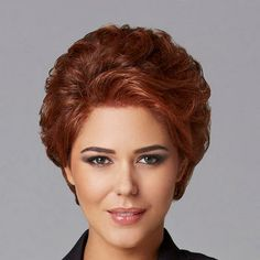 Pinnacle by Eva Gabor Wigs - Lace Front, Hand Knotted Top Wig - Wig Store - Wigs Short Permed Hair, Short Straight Hair, Short Wigs, Permed Hairstyles, Short Hair Cuts, Lace Front Wigs, Lace Wigs, Eva Gabor, Gabor Wigs