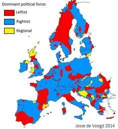 La Europa política, fuerzas dominantes en el continente.