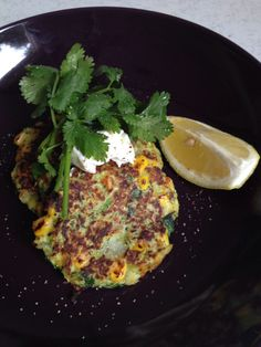 Zucchini Fritters with corn
