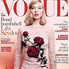 Lea Seydoux in #DGrose on @britishvogue cover. #DGwonen by dolcegabbana