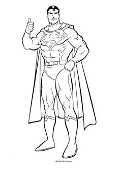 Superman Coloring Pages Cool