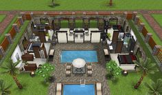 #SimsFreeplay Outdoor house and patio