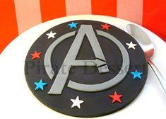 THE AVENGERS Edible Cake Topper Avengers Logo by PirateDessert