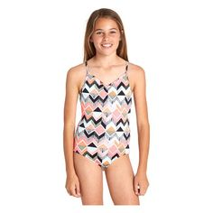 78f0ead608e7f Billabong Girl s Zigginz One Piece Swimsuit - Sun   Ski Sports. Beach KidsPretty  ...