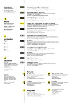 resume with icons