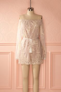 Hakimah - Sequins embroideries romper www.1861.ca