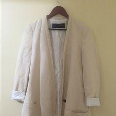 Zara linen blazer Nice condition worn a few times Zara Jackets & Coats Blazers