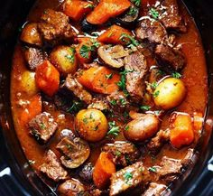 Slow Cooker Beef Bourguignon Stew Slow