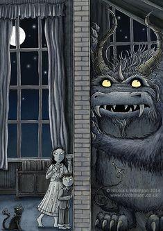 Nicola L Robinson Monster Listening Party Monster Illustration book illustration