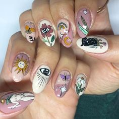 you light up my heart Best Acrylic Nails, Acrylic Nail Designs, Nail Art Designs, Minimalist Nails, Nail Swag, Nails Ideias, Nail Design Glitter, Witch Nails, Funky Nails