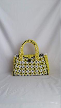 bead bag a beaded handbag a bead purse a handmade bead bag | Etsy Beaded Purses, Beaded Bags, Handmade Beads, Handmade Gifts, Doll Stuff, Bead Crafts, Hand Bags, Straw Bag, Beading