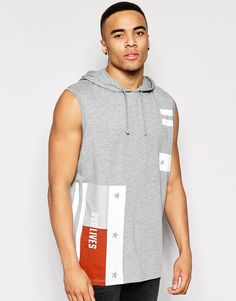 ASOS+Oversized+Sleeveless+T-Shirt+With+Stars+And+Stripes