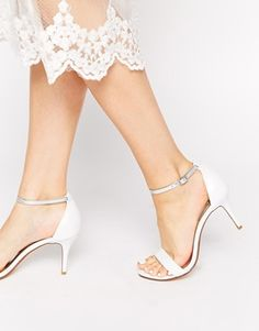 Enlarge Dune Marissa Leather Barely There Heeled Sandals