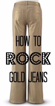 Gold jeans are not just for the fashion bold. They are for everyone. Not sure you can rock gold jeans? Get over your fear and give gold jeans a try. We dare you. We are also sharing some great tips to help you rock your gold jeans. @MonroeandMain #Ad #MMHolidayFashion
