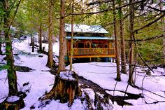 Luxury mountain retreat LOGDEN Lodge is the fruit of a lifelong dream and ambition. With 4 rustic luxury cabins nestled into 42 private acres. British Columbia, Cabins, Firewood, Acre, Wildlife, Running, House Styles, Beautiful, Design