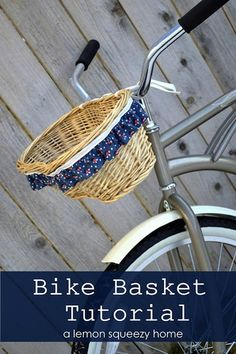 How-To: Ruffled Bicycle Basket #bicycle #basket #crafts