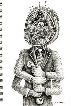 """doodle """"I think I have a small case of Mitosis"""" by Emek"""