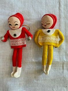 Merry Christmas Everyone, Elves, Elf On The Shelf, Japan, Ornaments, Yellow, Holiday Decor, Red, Ebay