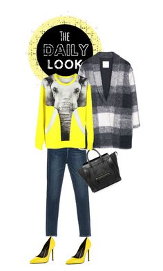 """""""The daily look"""" by drigomes ❤ liked on Polyvore featuring Yves Saint Laurent, MANGO, CÉLINE, women's clothing, women, female, woman, misses and juniors"""