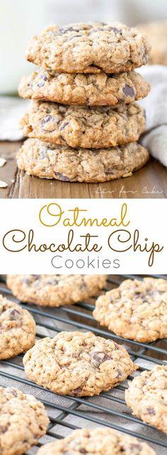 Galletas de chocolate de avena blandos y masticables   livforcake.com