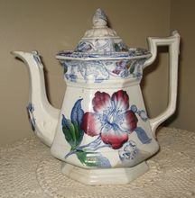 F M & Co.Paxton Tall Tea Pot, with Repairs. c 1845