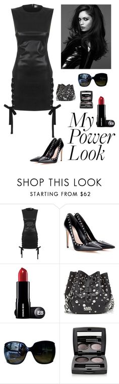 """""""My Power look"""" by kotnourka ❤ liked on Polyvore featuring Versus, Alexander McQueen, Karl Lagerfeld, Gucci and Chantecaille"""