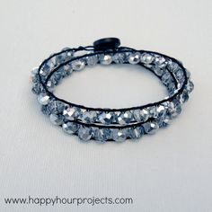 Double Wrap Bracelet DIY #HandmadeChristmasGift by Happy Hour Projects, featured @savedbyloves