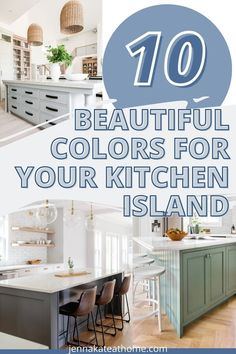 If you're remodeling or just looking to add color to a white kitchen, a colorful kitchen island is definitely the way to do it! These are the some of the most popular kitchen island colors to help you give some ideas for your own kitchen island dreams! Rustic Kitchen, Diy Kitchen, Kitchen Decor, Kitchen Ideas, Farmhouse Kitchens, Popular Paint Colors, Kitchen Paint Colors, Blue Home Decor, Stylish Kitchen
