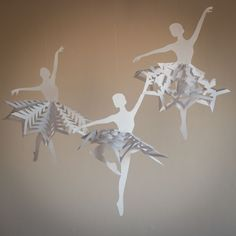 Create Breathtaking Paper Snowflakes With These Free Patterns: Snowflake Ballerinas from Blog a La Cart