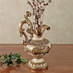 """Arella Table Vase $40  7""""Wx6""""Dx13""""H."""