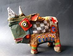 ⌼ Artistic Assemblages ⌼ Mixed Media, Journal, Shadow Box, Small Sculpture & Collage Art - animal sculpture - Gérard Collas, Ludocéros