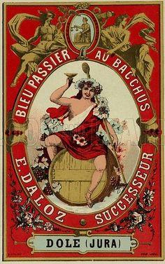Bacchus, Fine Art Prints, Canvas Prints, Wine Label, French School, A4 Poster, 500 Piece Jigsaw Puzzles, Photo Wall Art, White Ceramics