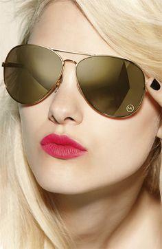 I NEEEEEEEDDDDD THESE!!!!!!!!!!!!       MICHAEL Michael Kors 'Lola' Aviator Sunglasses | Nordstrom