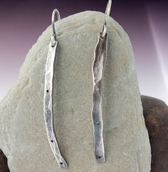 Newly Listed!!! Stick Earrings Sterling Silver by MetalworksJewelry on Etsy, $42.00