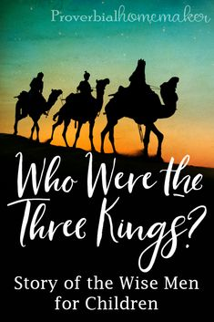 There are some myths and traditions when it comes to the three wise men in the nativity story that are worth chatting about with our kids. Who were the three kings in the biblical account of Jesus' birth? The story of the wise men for children should remind them of God's goodness and HIs plan for redemption. Who were the wise men? Learn more here! #Christmas #familydiscipleship #biblelessons Christmas Stories For Kids, Christmas Bible, Bible Stories For Kids, Bible Crafts For Kids, Bible Study For Kids, Bible Lessons For Kids, A Christmas Story, Christmas Blessings, Toddler Sunday School