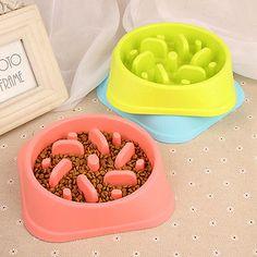 Puppy Dog Slow Down Eating Feeder  Toxic Dish Pet Dog Cat Feeding Food Bowl