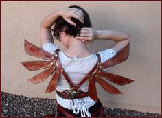 Steampunk Leather Costume Fairy Wings by JAFantasyArt on Etsy, $350.00