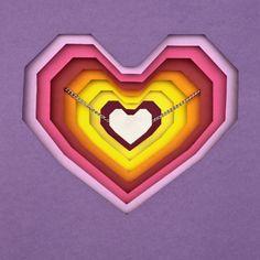 Cubist heart   http://www.facebook.com/linalovejoyas  www.linahernandez.com