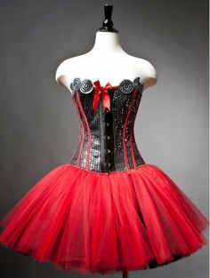 Items similar to Private listing for Wendy sequin red and black burlesque corset prom dress RUSH ORDER on Etsy Black Prom Dresses, Prom Party Dresses, Wedding Dresses, Red And Black Corset, Black Satin, Corset Outfit, Corset Dresses, Dresses Dresses, Burlesque Corset