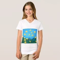 #fishing - #Tropical Fish Painting Gitls'Top T-Shirt