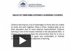 Many students have question about value of ISBM MBA Course, ISBM MBA courses specially designed for those working peoples and they want higher education.