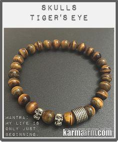 #Skulls symbolize protection, #strength, power, fearlessness, #wisdom and guidance, and surviving through a difficult time. #tigers #eye  #Beaded #Beads #Bijoux #Bracelet #Bracelets #Buddhist #Chakra #Charm #Crystals #Energy #gifts #gratitude #Handmade #Healing #Jewelry #Kundalini #LawOfAttraction #LOA #Love #Mala #Meditation #Mens #prayer #pulseiras #Reiki #Spiritual #Stacks #Stretch #Womens #Yoga #YogaBracelets