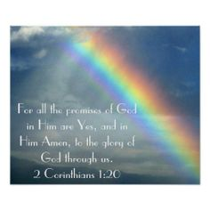 Promises of God bible verse poster