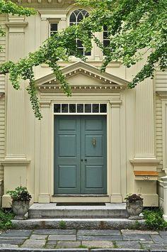 perfect grey-blue door..this is my  front door color