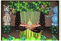 Safari / Jungle theme Birthday or Baby shower .   NYC Balloon Squad