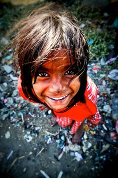 Little Girl in Dharavi slum, Mumbai