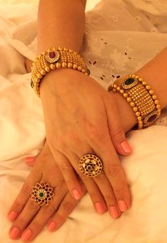 Bracelets – Page 4 – Modern Jewelry Gold Bangles Design, Gold Jewellery Design, Gold Jewelry, Diamond Jewelry, Jewelry Ads, India Jewelry, Gold Necklaces, Glass Jewelry, Gold Earrings